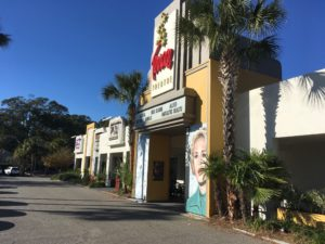 A photo of the Terrace Theater on James Island.