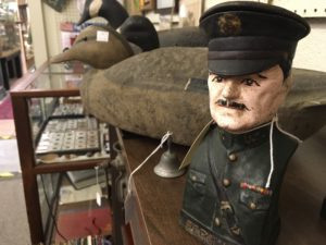 Duck and military man bust at Terrace Oaks Antique Mall. Photo by Sandra Stringer.
