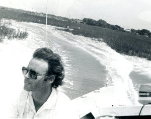Rick Stringer on boat. Photo by Les Stringer.
