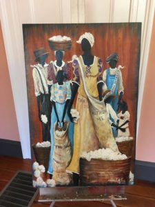 One of the paintings by Sonja Griffin Evans. Photo by Sandra Stringer.