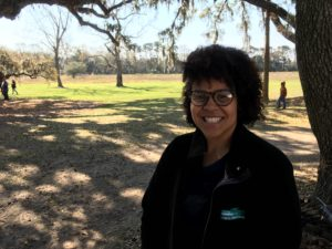 Olivia Williams, one of the historical interpreters at McLeod Plantation.