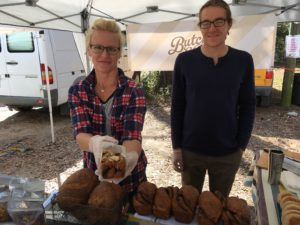 The folks from Butcher and Bee with the monkey bread that I was soon to devour.