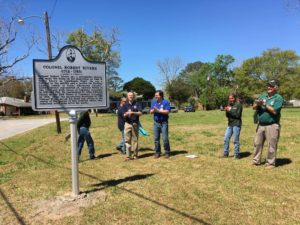 The historical marker.