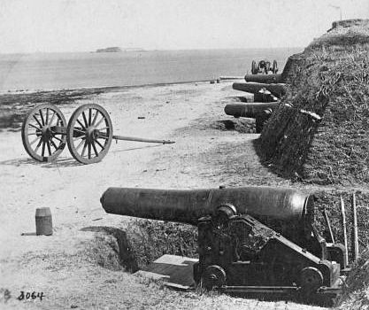 Fort Johnson Water Battery, public domain This image is available from the United States Library of Congress, Prints and Photographs Division under the digital ID 1s02576v. No known copyright restrictions.