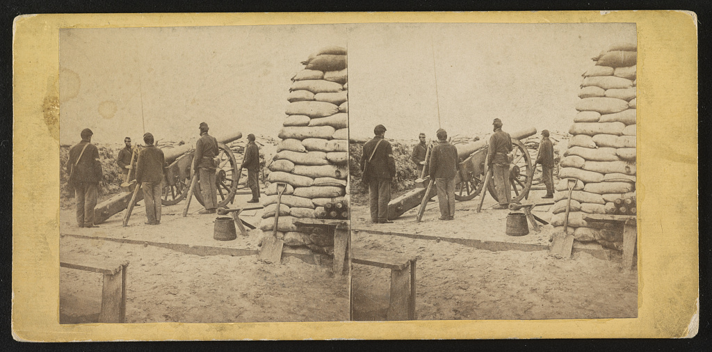 Interior of swamp angel battery, near Charleston, S.C. From the Library of Congress. http://www.loc.gov/pictures/resource/stereo.1s04551/