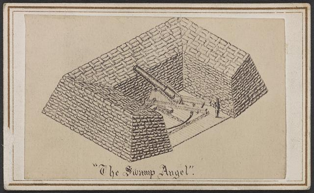 The Swamp Angel. From the Library of Congress. http://www.loc.gov/pictures/item/2013648217/