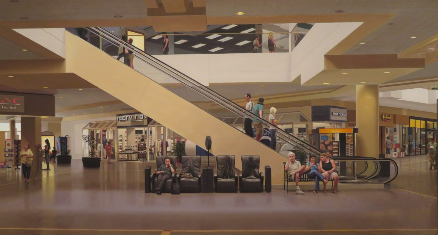 Painting of an airport terminal by Marc Trujillo