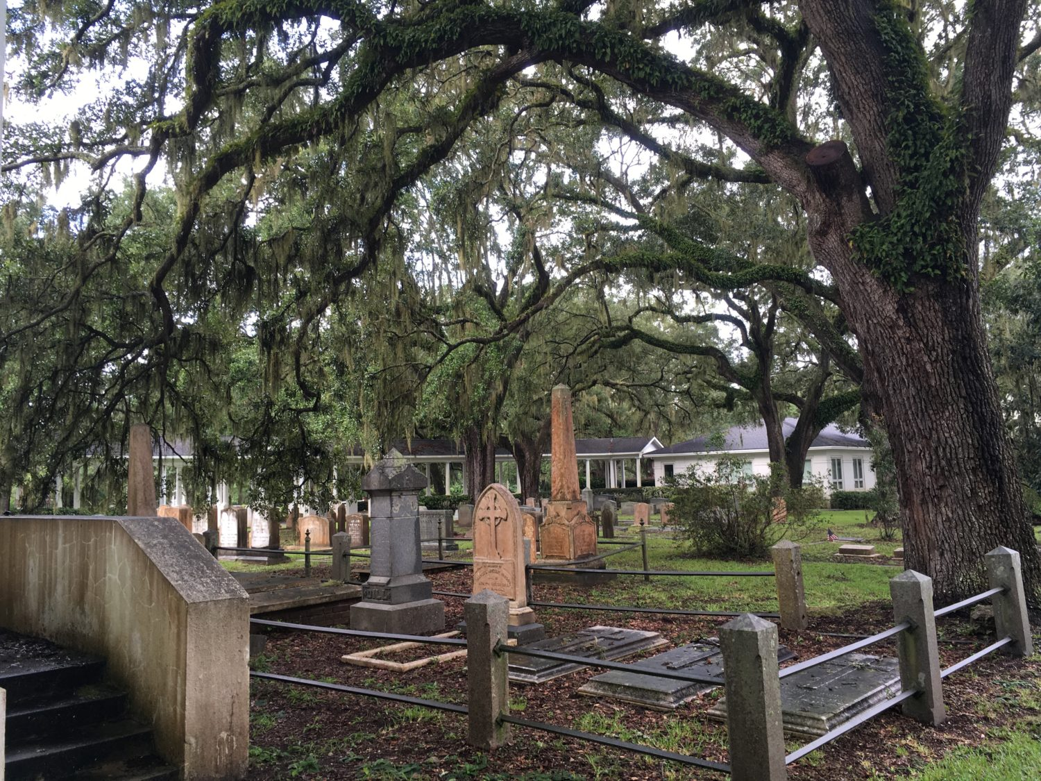 St. James Episcopal Church graveyard. The obelisk of the McLeods is in the background. I took this photo on my first trip. Can you believe I couldn't find Josiah McLeod?