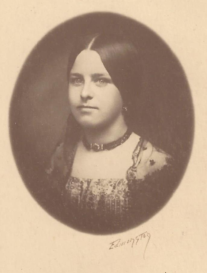 Marianne Dicks (Hills), 1859. Author's collection.