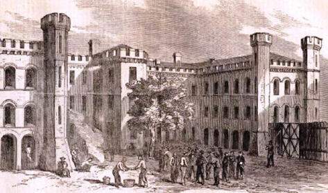 A sketch of the Charleston Jail from Harper's Weekly, February 18, 1865.