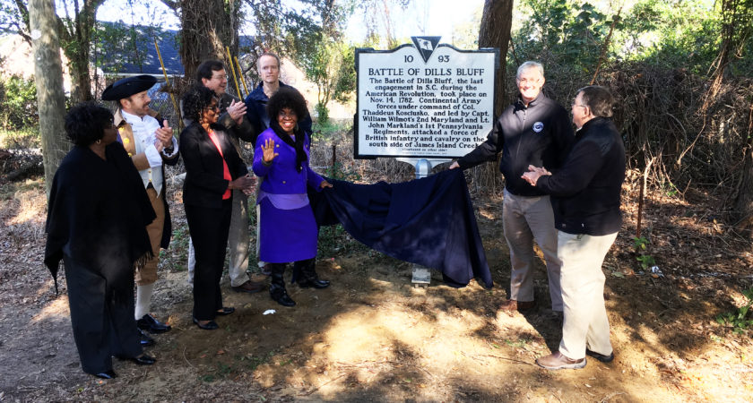 Dills Bluff historical marker unveiled on Veterans Day