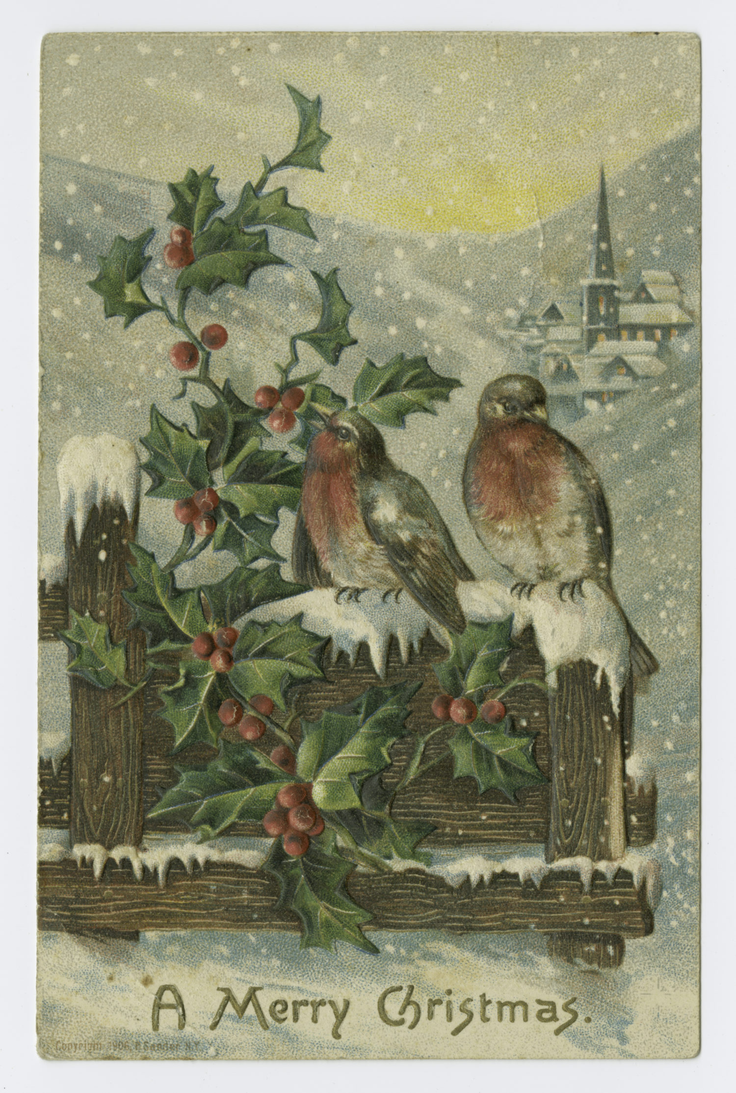 """Art and Picture Collection, The New York Public Library. """"A Merry Christmas."""" The New York Public Library Digital Collections. http://digitalcollections.nypl.org/items/510d47e3-6362-a3d9-e040-e00a18064a99"""