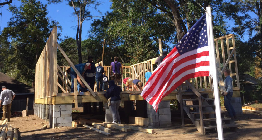 James Island build for Marine Corps veteran by Sea Island Habitat for Humanity